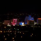 Reno at Night by Michael Risser