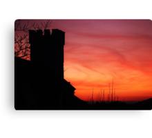 Pennard Church Sunset  Canvas Print