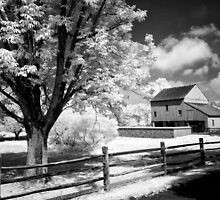 Infrared Country Barn by ©  Paul W. Faust