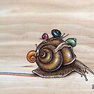 Snail back ride by Fay Helfer