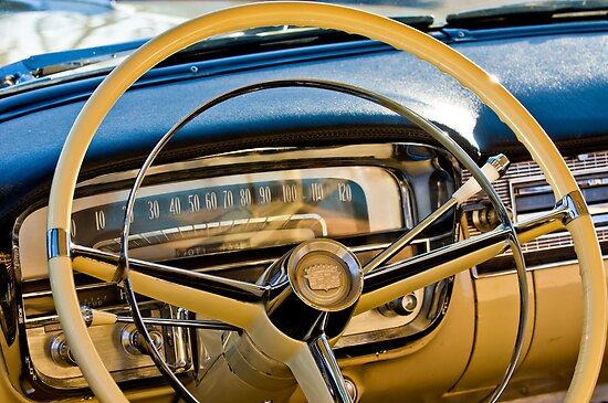 1956 Cadillac Steering Wheel by Jill Reger