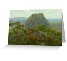 Mount Tibrogargan in the Glasshouse Mtns Greeting Card