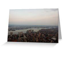 the Hudson River Skyline Greeting Card