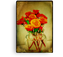 Roses and Textures Canvas Print