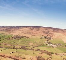 Mam Tor Panorama by cameraimagery