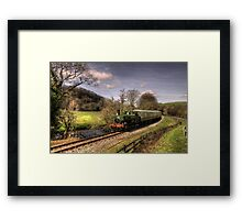 Pannier Tank on the Dart Valley Framed Print