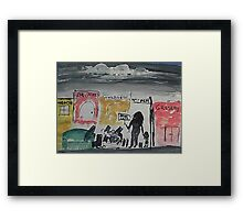 HOMELESSNESS, my greatest fear, watercolor Framed Print