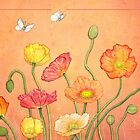 Poppies card by Laura Grogan