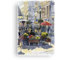Prague Mustek First Heat Canvas Print