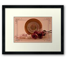 Roses And Pansies Framed Print