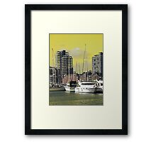Yellow Regeneration, Ipswich Waterfront Framed Print