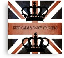 Vintage UK Flag Design  Canvas Print