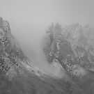 Snowy Peaks in the Mist by David DeWitt