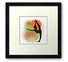 Yoga Dancer Pose Framed Print