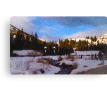 Big Cottonwood Creek Canvas Print