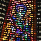 Glass Detail, Roman Catholic Cathedral of Saint Sebastian, Rio de Janeiro, Brazil by Carole-Anne
