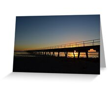 And The Day Ends Greeting Card