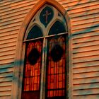 Sunset Shadows on Stained Glass by Jane Neill-Hancock