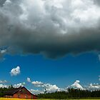 Countryside cloud with nice summer sun. by Samuel Glassar