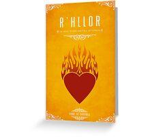 R'hllor Greeting Card