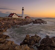 Portland Head Light Pre-Dawn, Cape Elizabeth, ME by Stephen Cross Photography