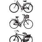 Three Bicycles by Spencer Tymchak