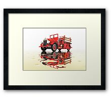 Antique Fire Engine with reflections Framed Print