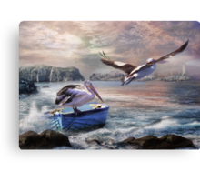 Last Flight Of The Day Canvas Print