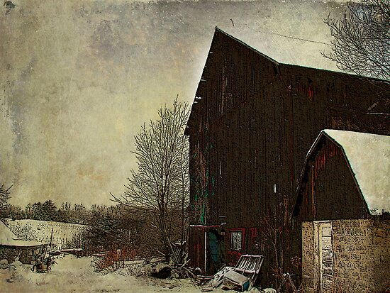 Winter Barn by vigor