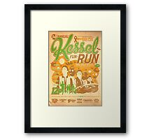 Kessel Fun-Run (12-Parsec Race to Cure Wookiee-Pox) Framed Print