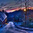 Winter Sunset in Park Bridge by Paul Barnett