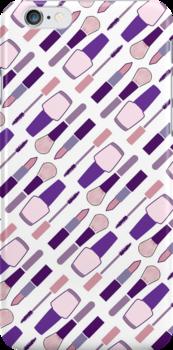 Pretty Pink and Purple Makeup Set by joanak
