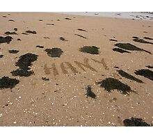 Guess Who Has Been To The Beach Again?? Photographic Print