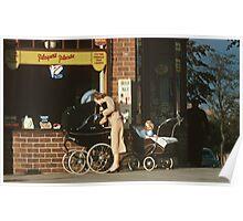 Pram in street Dunfermline 195709080001 Poster
