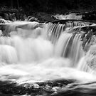 Cascade in black and white by ©  Paul W. Faust