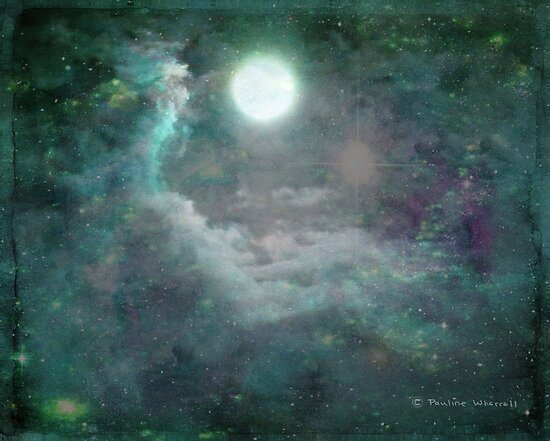 A magical world - full moon 8/3/12 by © Pauline Wherrell