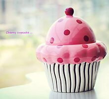 Cherry cupcake by Lili Ana