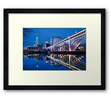 The city of Cleveland Framed Print
