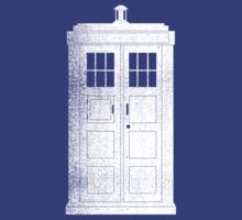 The Tardis - White by RetroLogos