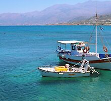 In the harbour at Hirsonissos by Agnes McGuinness