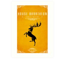 House Baratheon Art Print