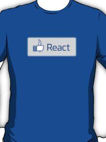 React button T-Shirt