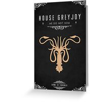 House Greyjoy Greeting Card