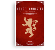 House Lannister Canvas Print