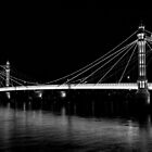 Albert Bridge London, Black and  white image by DavidHornchurch