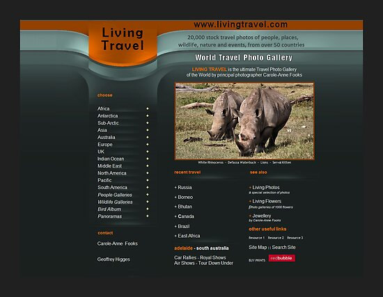 World Travel Photos Website by Geoffrey Higges