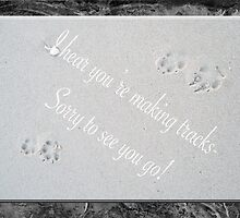 Sorry You're Leaving Card - Fox Tracks  by MotherNature