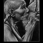 Conch Blower, Palau - Black by Yvonne C. Neth