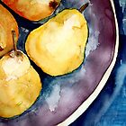 pears in a bowl by Claudia Dingle