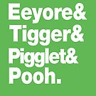 Eeyore&amp;Tigger&amp;Pigglet&amp;Pooh by nimbusnought